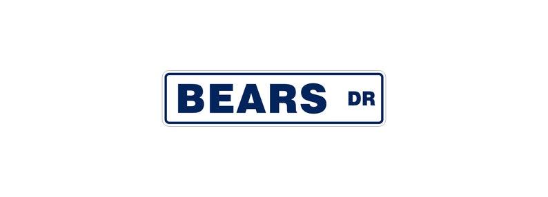 Chicago Bears Street Sign  Bears Man Cave  Football Decor  image 0