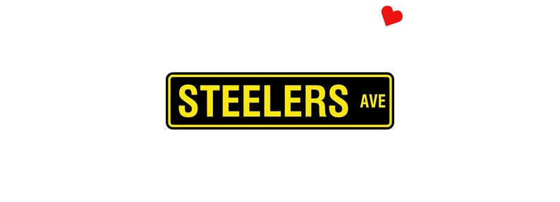 Pittsburgh Steelers Aluminum Street Sign  NFL Man Cave Wall image 0