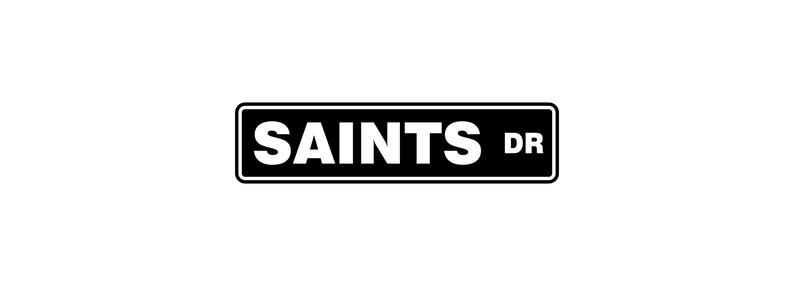 New Orlean Saints Street Sign  Saints Man Cave  Football image 0