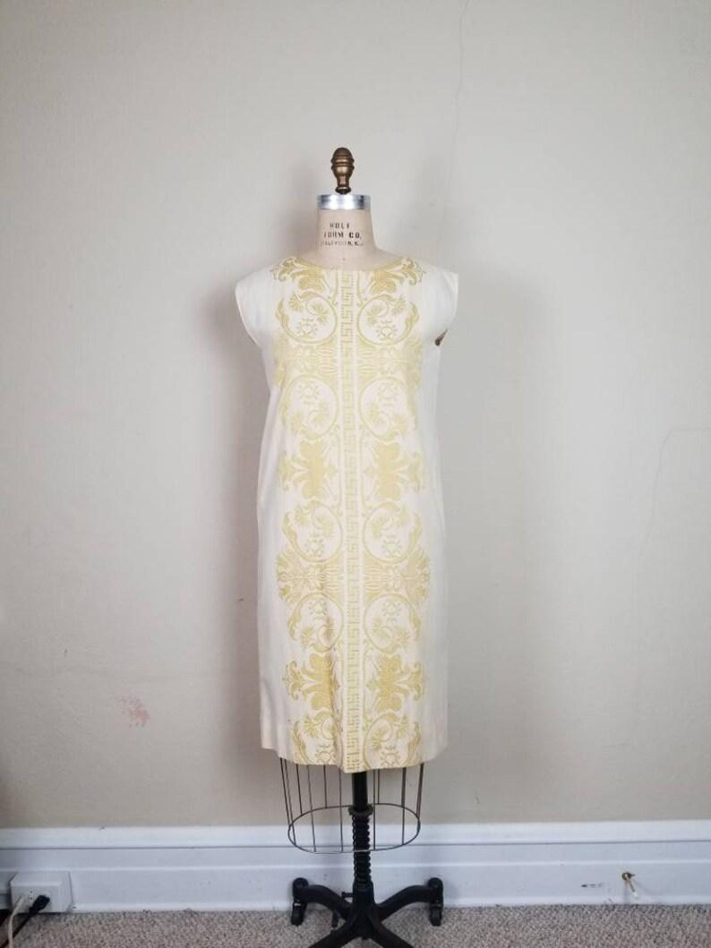 linen Indian style handmade hand woven 50s-60s beautiful dress boho dress