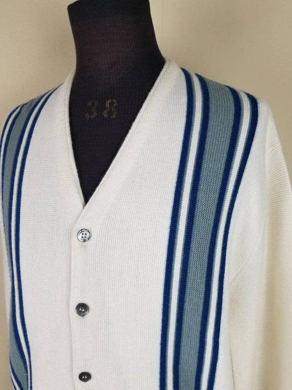 50s cardigan, mens varsity sweater, XL, alpaca kn… - image 3
