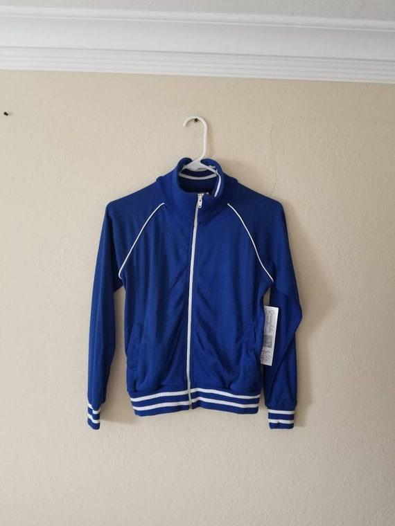 NOS NEW 70s track suit, blue, acrylic jogging suit