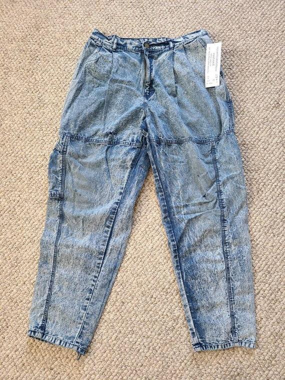 80s Lee jeans, 33x30, acid wash - image 6
