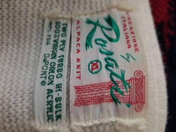 50s cardigan, mens varsity sweater, XL, alpaca kn… - image 6
