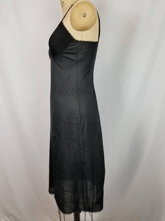Black full slip,  vintage 34L - image 3