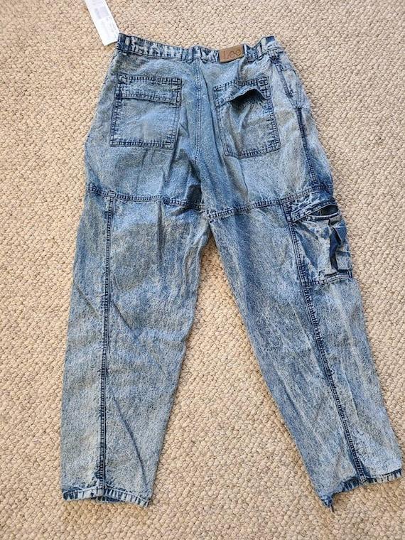 80s Lee jeans, 33x30, acid wash - image 7