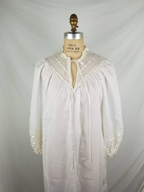 White nightgown,  Victorian style medium, lace