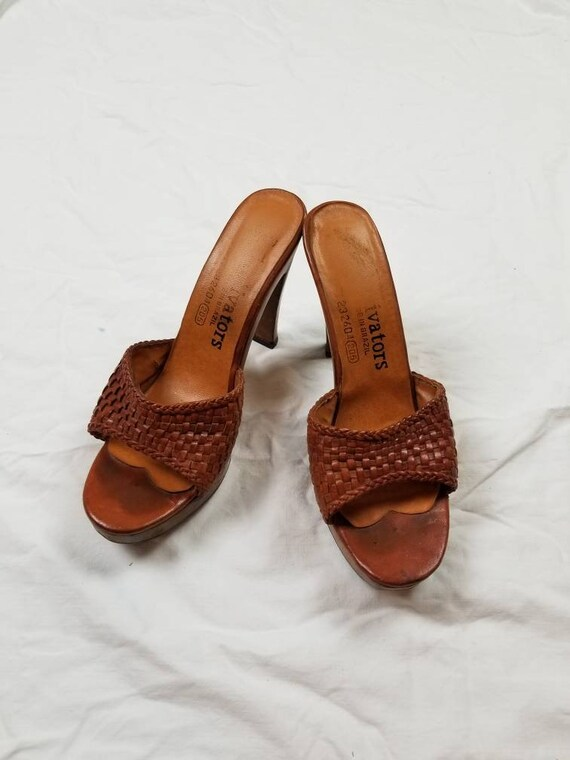 8 70s mules, clogs, heels with wooden sole