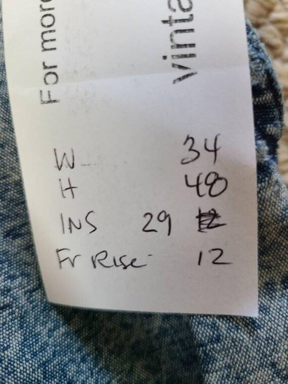 80s Lee jeans, 33x30, acid wash - image 3