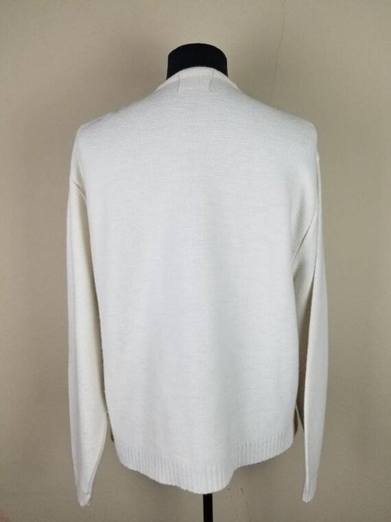 50s cardigan, mens varsity sweater, XL, alpaca kn… - image 5