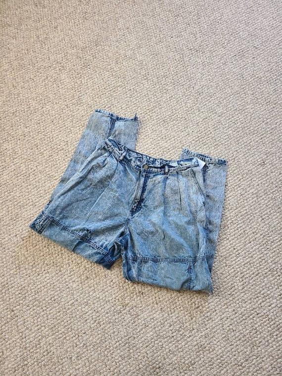 80s Lee jeans, 33x30, acid wash - image 1