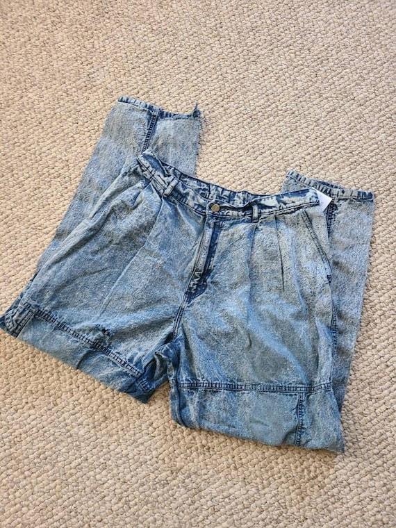80s Lee jeans, 33x30, acid wash - image 2