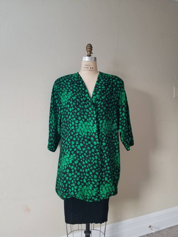 80s vintage dress, green, Saks Fifth Avenue, Richi