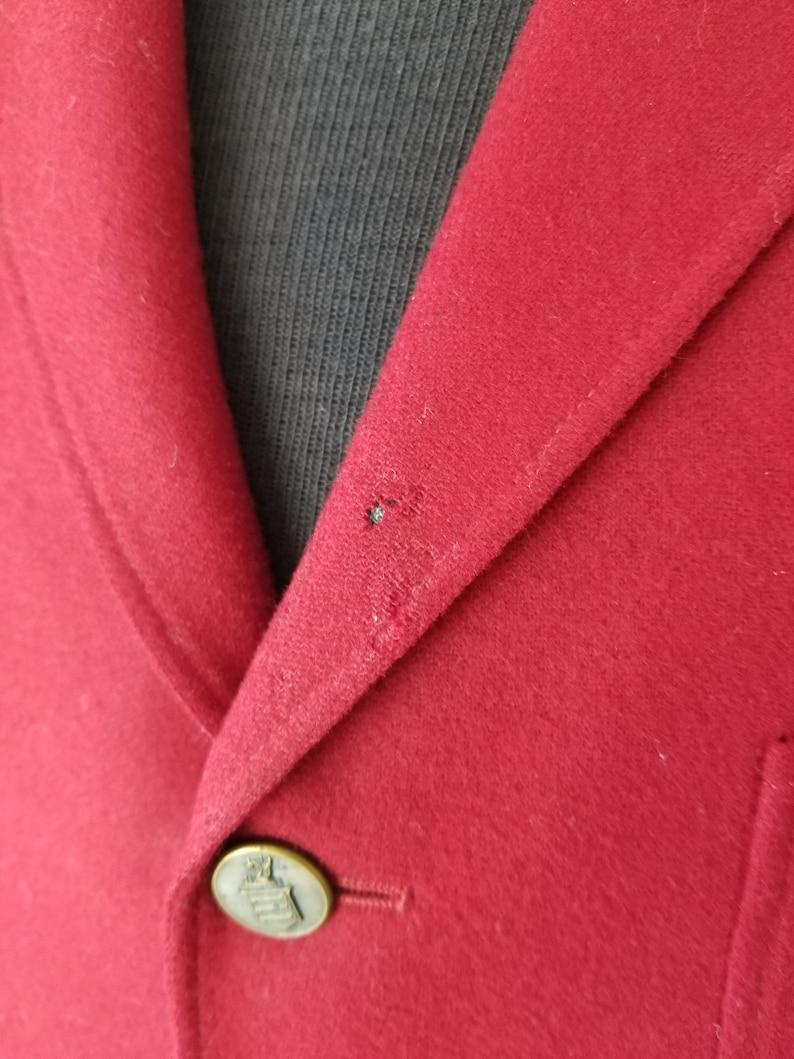 Red Mercedes club vintage blazer 48