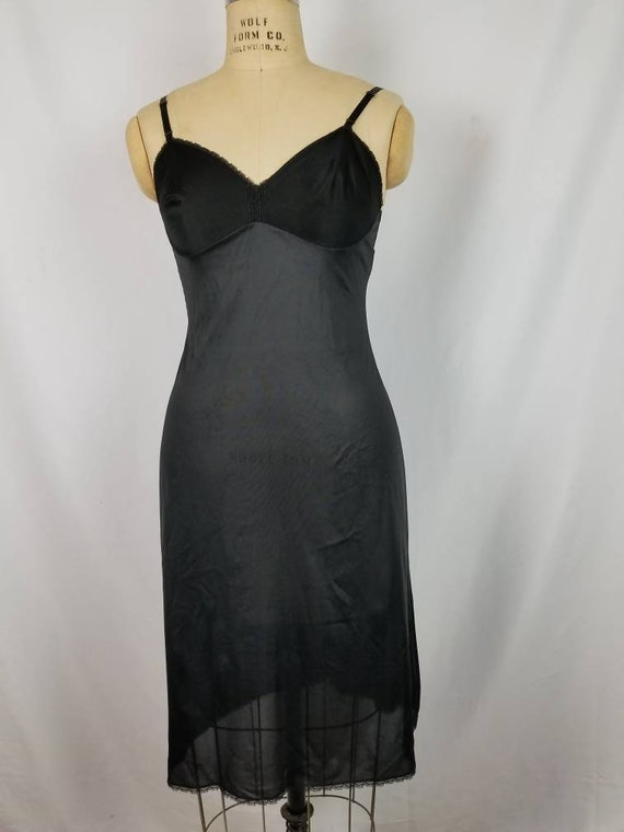 Black full slip,  vintage 34L - image 2