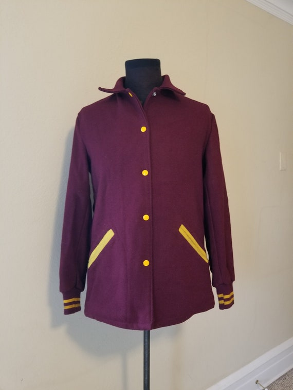50s ladies wool Varsity Jacket size 18 46 chest wi