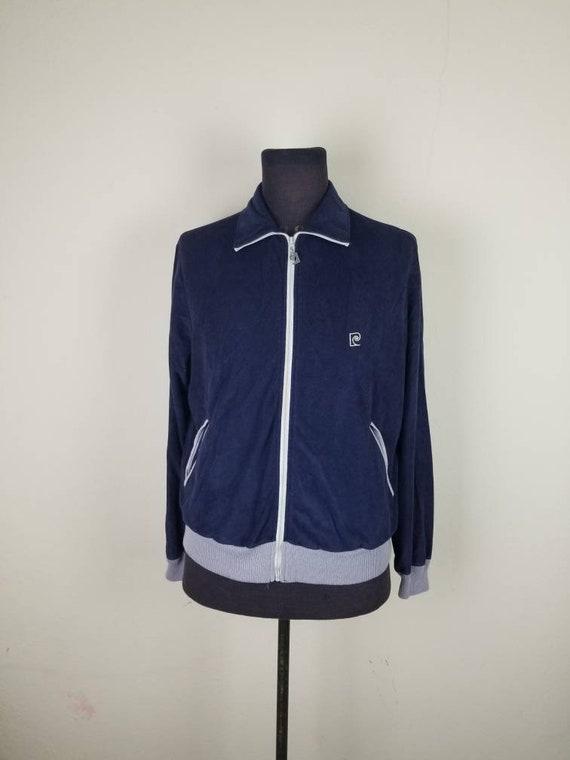 Pierre Cardin track suit, mens medium, navy blue v