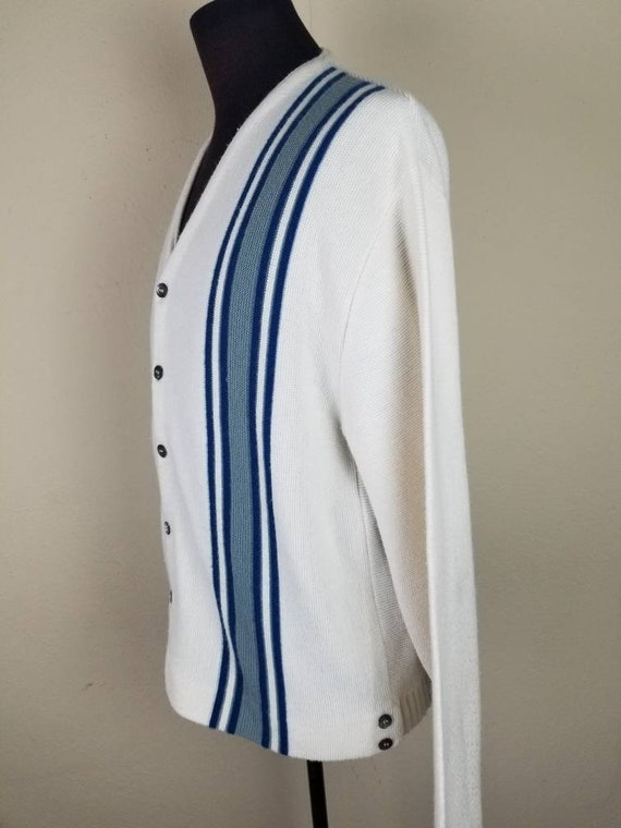 50s cardigan, mens varsity sweater, XL, alpaca kn… - image 4