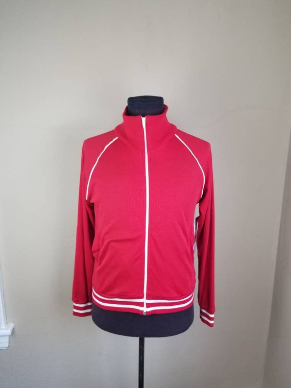 NOS NEW 70s track suit, red, acrylic jogging suit,