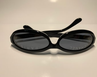 108f8026dbd vintage chanel black round sunglasses 01946 94305 from 1994