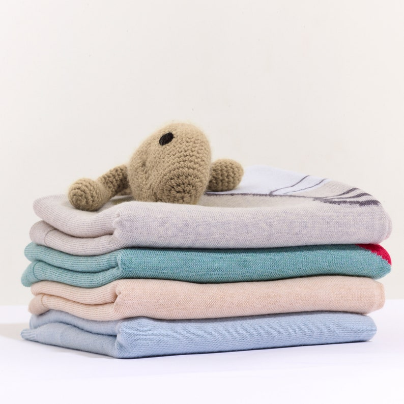 Premium Baby Blanket with Ice Cream Pattern in Gift Box