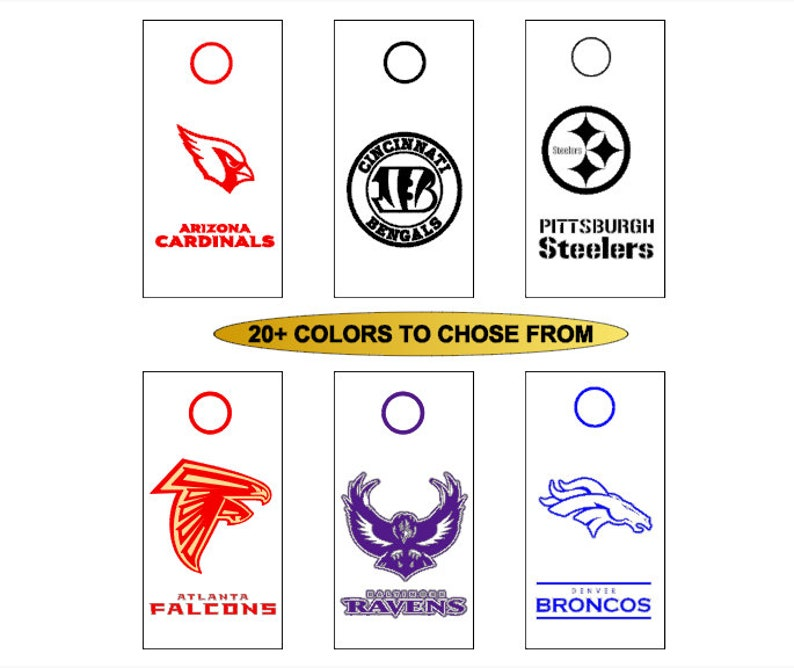 8 CORNHOLE Board Decals Vinyl Window Decal Pittsburgh Steelers Decal Set