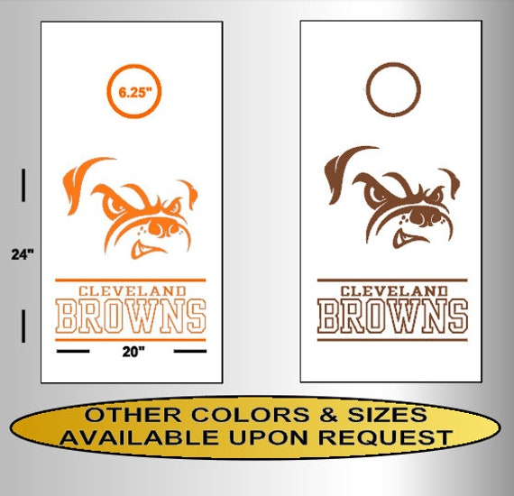 """6/"""" x 6/"""" Cleveland Browns Full Color Die Cut Transfer Decal"""