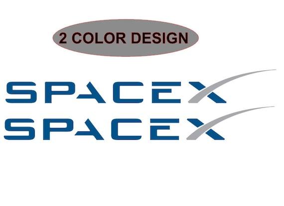 2 SpaceX Logo Die Cut Vinyl Window Bumper Sticker Decal Car Bumper Helmet  Laptop