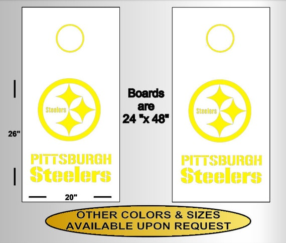 Pittsburgh Steelers Sticker Decal Vinyl SET OF 2 Cornhole Truck Car
