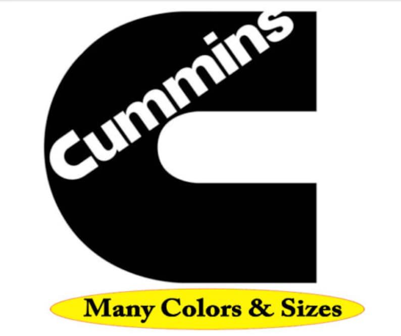 Cummins Decal Sticker Window Car Truck Wall Die Cut Red White Black Matte Gloss