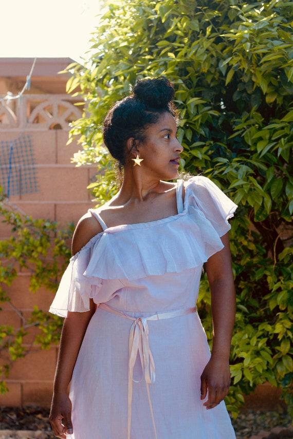 Vintage Pastel Lilac Maxi Dress