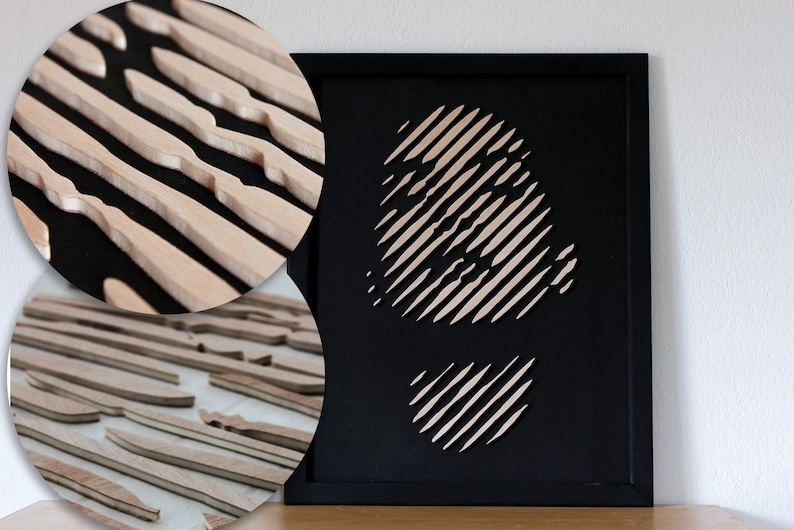 3D Wooden Wall Hangings / Wood Inlay Marquetry Portraits / image 0