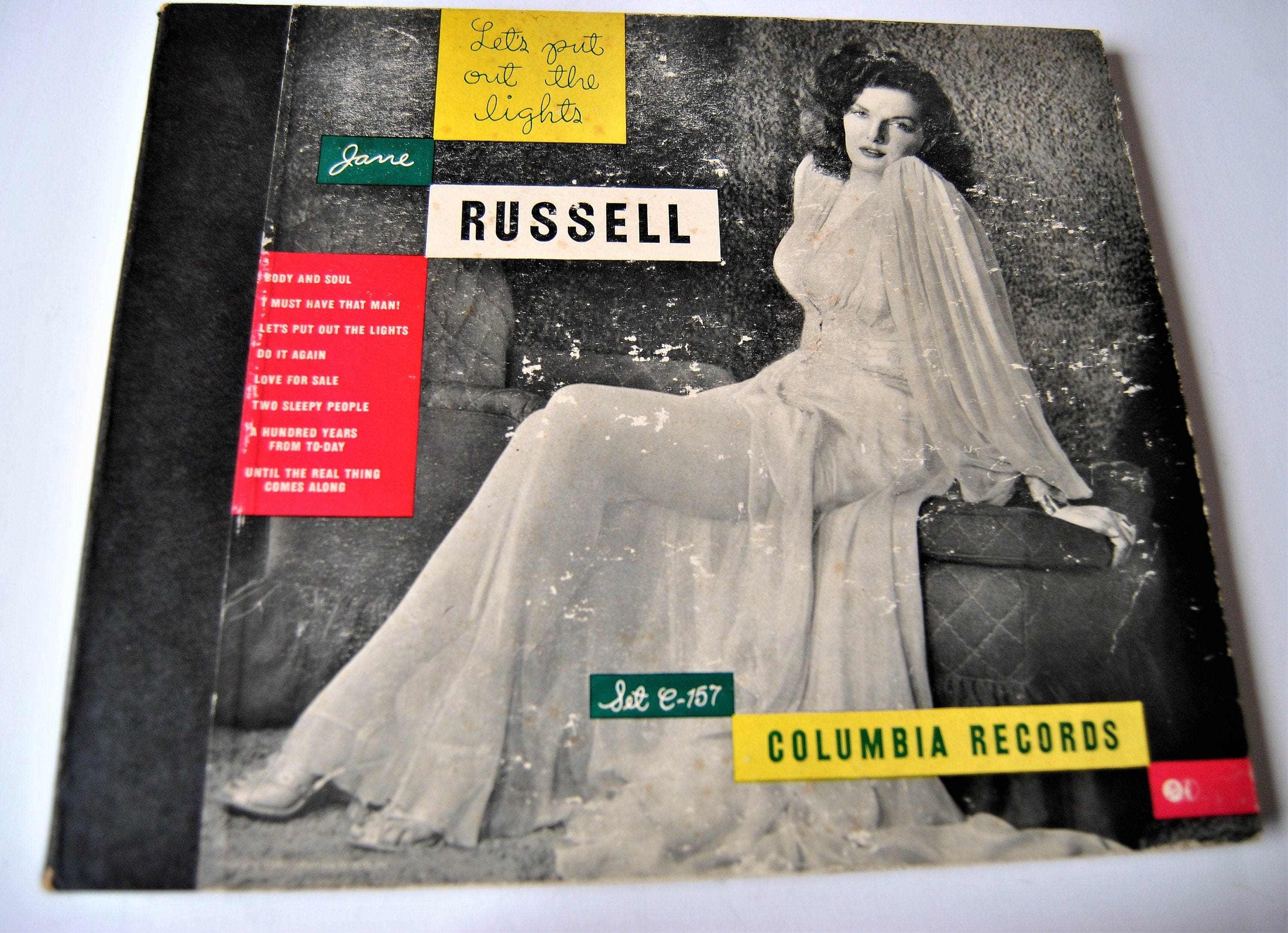 Jane Russell - Let's Put Out The Lights - 78 RPM Records - Four In Set -  Extremely Rare