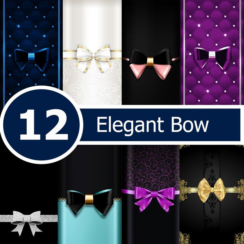 Elegant Bow paper-Elegant paper-Scrapbooking Craft supplies-Digital Paper-Wrapping paper-GiaDigitalPaper