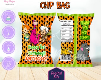 Pebbles n Bambam chip bag, pebbles chip bag, Bambam chip bag, pebbles printables, bam bam printables