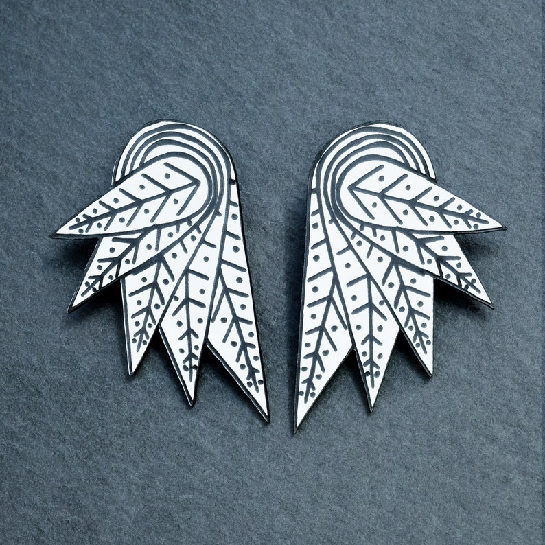 Cockie Collab Cockie Wing earrings stud and clip on available