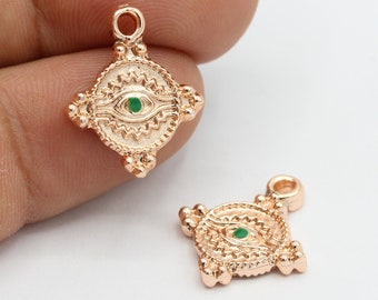 Medallion Pendants RSG567 21x24mm Rose Gold Plated Luck Necklace
