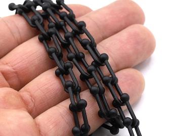 CHN361 Black Plated Bulk Chains 9x16mm Black Plated Chain Black handmade chain