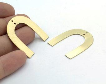 U Shaped Charm M446 10 Raw Copper U Shaped Charms With 1 Hole 25x22x0.80mm Blanks