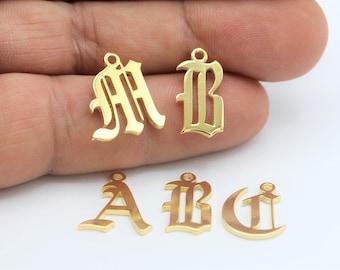 Alphabet Charms Etsy