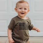 army green military tshirt, american flag bodysuit, daddy and me matching shirts