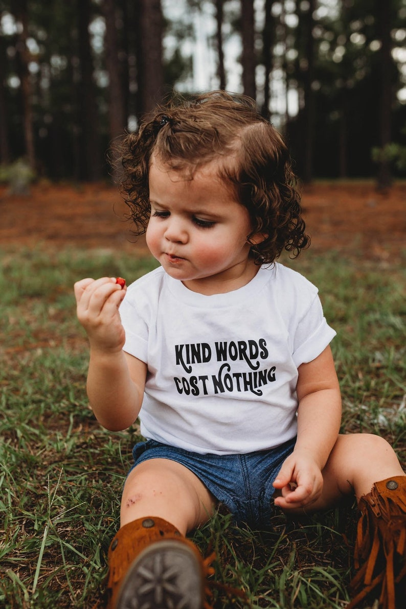 be kind toddler tshirt kind is cool baby tee kind words cost image 0