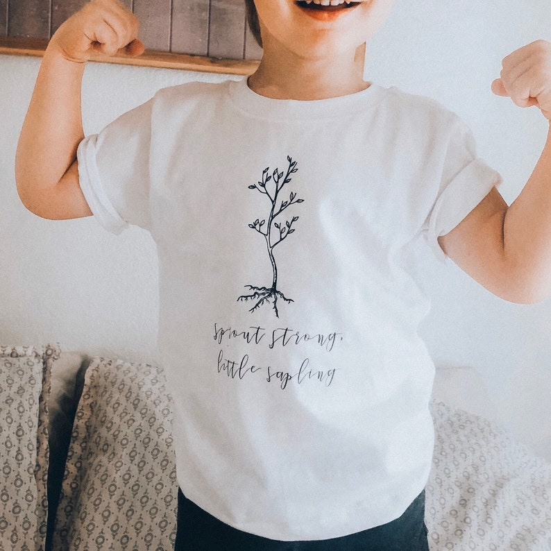 sprout strong little sapling bodysuit baby boy shower gift image 0