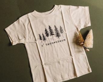 O' Tannenbaum Adult Tshirt - O' Christmas Tree Graphic Unisex Shirt - Holiday Tee - Christmas Gift