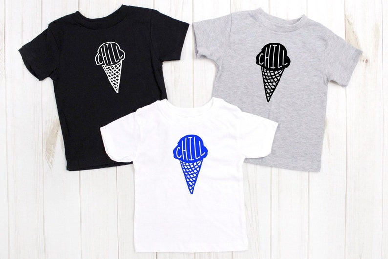 chill ice cream tshirt kids summer vibes shirt fun in the image 0