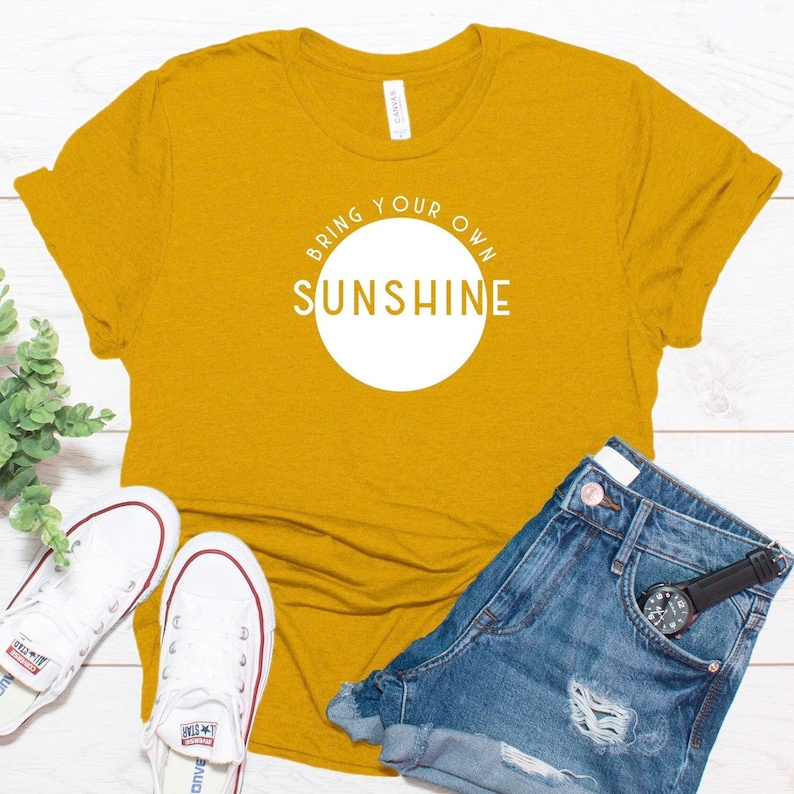 sunshine good vibes graphic tee unisex bring your own image 0