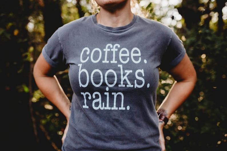 comfort colors coffee shirt literary tshirt favorites image 0