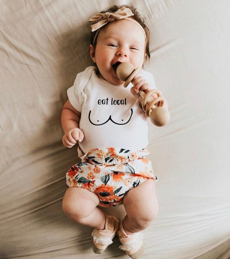 breastfeeding baby bodysuit eat local nursing toddler shirt image 0