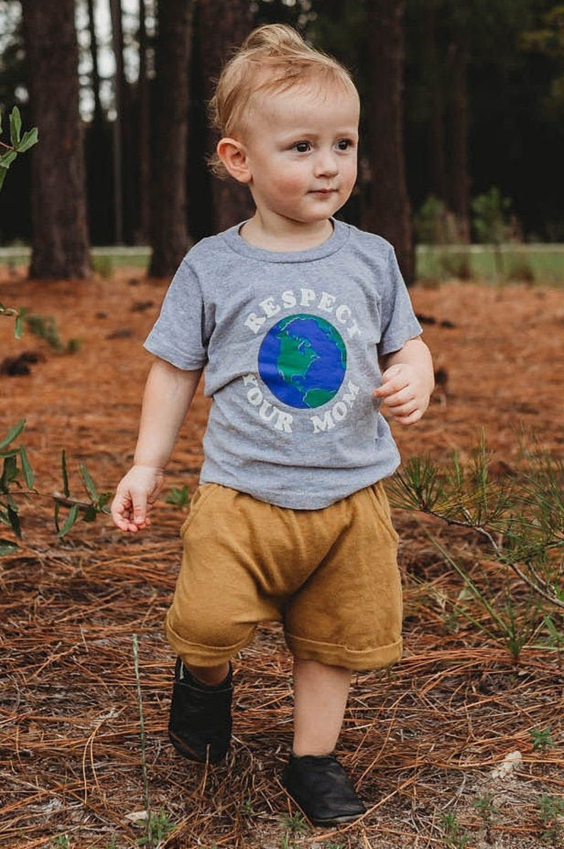 mother earth baby shirt youth respect your mom tshirt unisex image 0