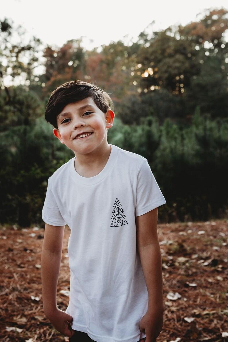 Youth Christmas Shirt  Minimalist Christmas Shirt  Kids image 0